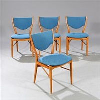 set of four dining chairs of beech by finn juhl