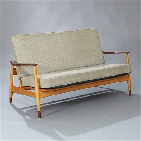 Two Seater Sofa Model Fd 161 By Arne Vodder