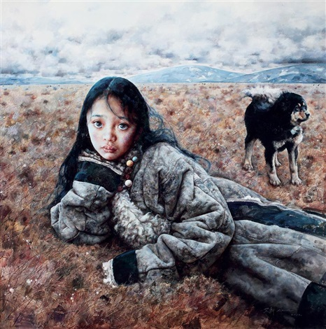 the tibetan girl by ai xuan