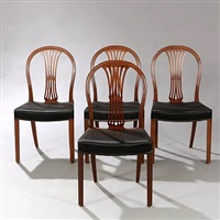dining chairs (set of 4) by frits henningsen