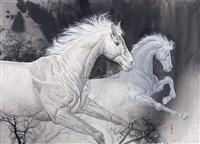 horse by liu xiangguang