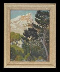mountainous landscape by conrad alfred albrizio