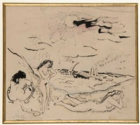 frauen am strand by jules pascin