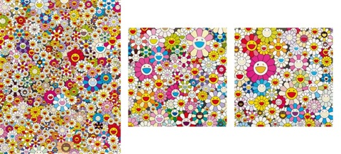 flower smile flowers from the village of ponkotan poporoke forest set of 3 by takashi murakami