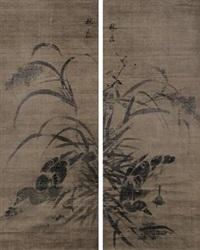 水禽图 (2 works) by lin liang