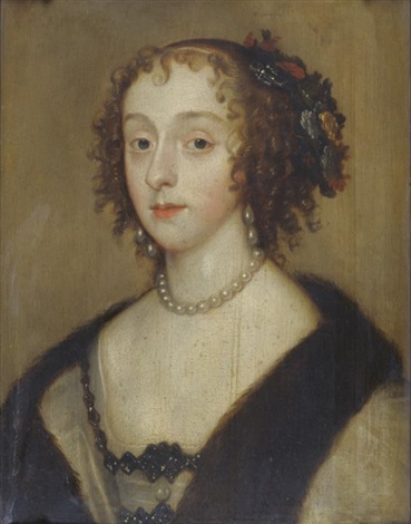 portrait of henrietta maria wife of charles i by sir peter lely
