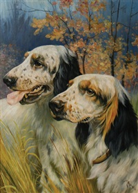two english setters by arthur wardle