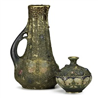 gres-bijou amphora vessels (2 works) by paul dachsel