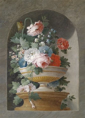 blumenstillleben another pair by cornelis van spaendonck