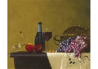 wine and fruits by mamoru shoji