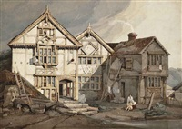 poundsbridge manor, poundsbridge, penshurt, kent by samuel prout