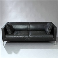 twin freestanding two-and-a-half seater sofa by piero lissoni
