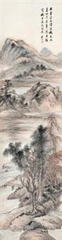 秋林暮山 by gu yun