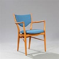 armchair with beech frame by finn juhl