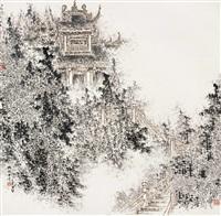 幽林古寺 by bai qizhe