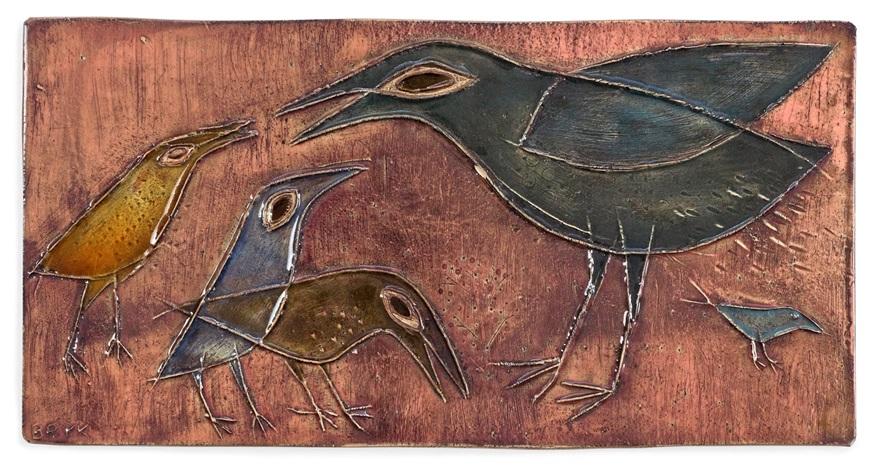 väggrelief reliefdekor av fåglar by rut bryk