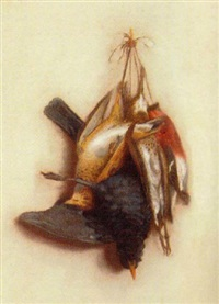 nature morte of birds by marie paoline casbergue coulon