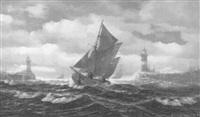 einlaufende hochseefischer by fritz haack