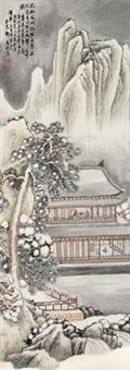 雪山楼台图 by deng chunshu