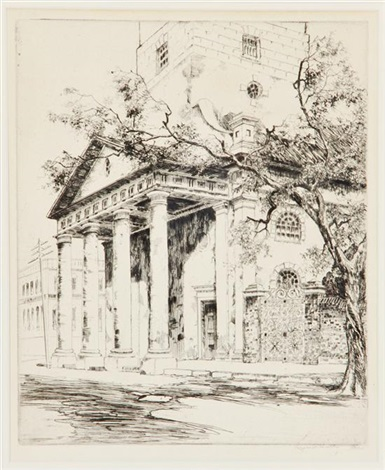 old st michaels charleston by alfred heber hutty