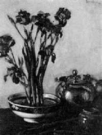 iris in a bowl by charles pickering townsley