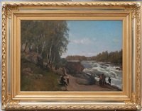 walking by the river by berndt adolf lindholm