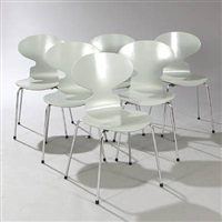 the ant chair side chairs (set of 6) by arne jacobsen