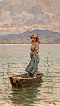 ragazza a torre del lago by angiolo tommasi