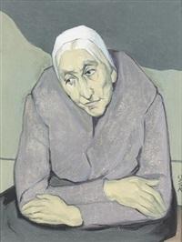 porträt einer älteren dame by ottilie w. roederstein