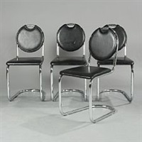 cantilever chairs (set of 4) by sven markelius