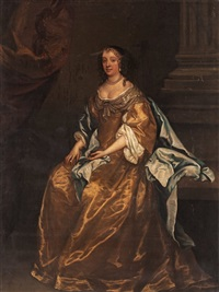 lady in a yellow dress by sir peter lely