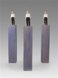 ohne titel (drei männer) by stephan balkenhol