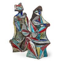 figural sculptures (pair) by marcello fantoni