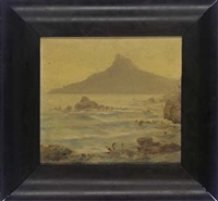 lion's head sunrise - from camps bay, south africa by edward clark churchill mace