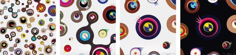 jellyfish eyes (set of 4) by takashi murakami