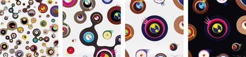 jellyfish eyes set of 4 by takashi murakami