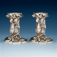 candlesticks (pair) by fabergé (co.)