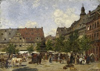 marktplatz (in weimar?) by paul andorff