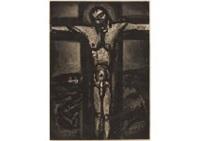 sous un jesus en croix oublie la; ce sera la ernier, petit pere! (2 works) by georges rouault