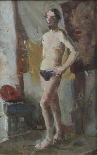 standing male figure by vassili vasilievitch sokolov