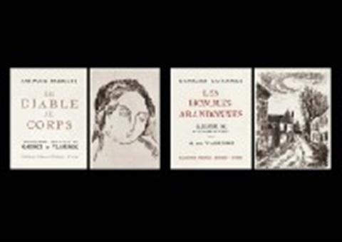 le diable au corps bk w10 works text by raymond radiguet and les hommes abandonnes bk w24 works34 works by maurice de vlaminck