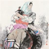 母女图 by xu zhan
