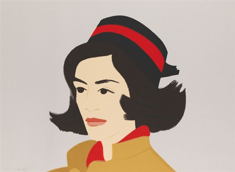 ada in hat from alex and ada the 1960s to the 1980s series by alex katz