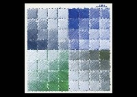 blue blue-green and green by hisahi momose