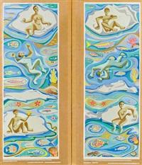 entwürfe für das theresienbad (2 works) by carry hauser