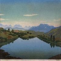 tiroler bergsee by karl pferschy