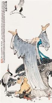 西山放鹤图 by wang hongxi
