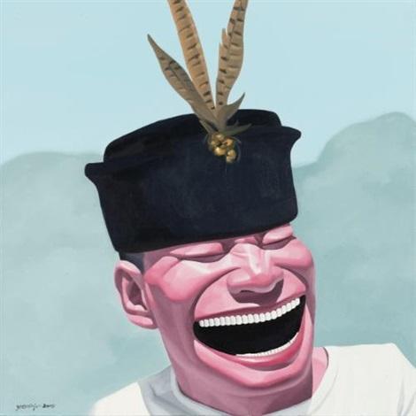 hat by yue minjun