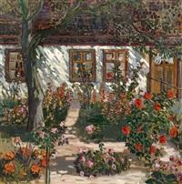 friesenhaus mit blumengarten by walter alfred rosam