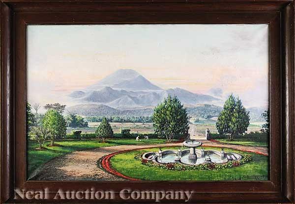 landscape with fountain by frederik kasenda